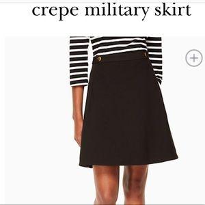 Kate Spade Crepe Military Skirt